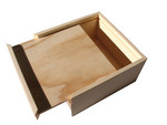 wooden gift box with slide lid